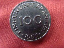 1 Pièce Territoire De La Sarre 100 Franken 1955 - Sarre