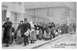 Lot 2 Cpa Guerre 14-18 Populations évacuées Genève Noyon 1914  état Superbe TOP - Guerre 1914-18