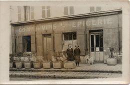 CARTE PHOTO  EPICERIE MARCHAND DE VINS A SAINT CYR L ECOLE - St. Cyr L'Ecole