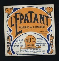"""Ancienne Etiquette Fromage  L'Epatant Fabriqué Dans L'Aube 10  Fromagerie De Voué Et Charmont 40%mg """"Or 1911"""" - Fromage"""