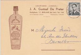 Pub. Reclame / Likeur Fabriek *Cardinal* J.A. Gustaaf De Preter / Hanekamp Oude Schiedam 1957 - Berlaar