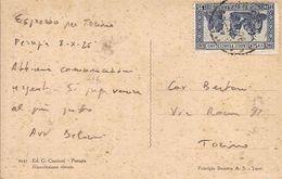 """(St.Post.).Regno.V.E.III.1926.Espresso In Tariffa.1,25 Lire Azzurro """"S.Francesco"""" (44-20) - Storia Postale"""
