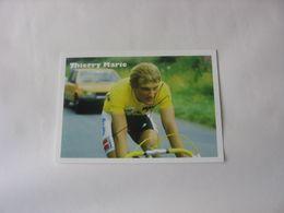 Cyclisme - Autographe - Carte Signée Thierry Marie - Autographes