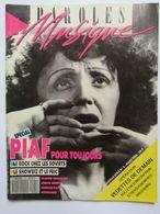 Paroles Et Musique ; Spécial Edith Piaf - Musique