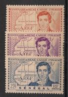 Sénégal - 1939 - N°Yv. 150 à 152 - René Caillié - Neuf Luxe ** / MNH / Postfrisch - Senegal (1887-1944)