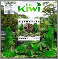 DJIBOUTI 2020 MNH The Kiwi Birds Vögel Oiseaux S/S - IMPERFORATED - DHQ2020 - Kiwi