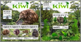 DJIBOUTI 2020 MNH The Kiwi Birds Vögel Oiseaux M/S+S/S - IMPERFORATED - DHQ2020 - Kiwi