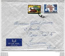 62 - 21 - Enveloppe Envoyée  Du Ruanda  En Suisse Timbres Surchargés - Rwanda