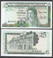 GIBILTERRA (GIBRALTAR)   :  5  Pound - P21b - 1988 -  UNC - Gibilterra
