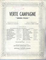 F. DEGUELT / ALLEGRETTES / H. SALVADOR / J. LAWRENCE   Partitions -  VERTE CAMPAGNE - éditions  J. PLANTE ( PARTITION ) - Musique & Instruments