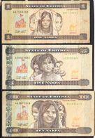 2015 Eritrea Banknotes (A)  Complete Set Of 6 CIRCULATED @ Below FACE VALUE - Eritrea