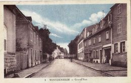 CPA : Wintzenheim (43) Grande Rue   Assez Rare   Commerces Petite Animation     Ed Meyer Et  Priedinger 2 - Wintzenheim