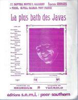 GEORGIUS   Partitions -  LA PLUS BATH DES JAVAS  - éditions  S.E.M.I.  ( PARTITION ) - Musique & Instruments