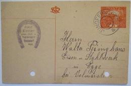 Pferde Werbung Reklame Hufeisen Hufschmied, Jungferndorf 1920 (28421) - Pferde
