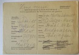 Frankreich Kriegsgefangenenpost Kdo.Genie Mutzig Strassburg 1946 - SBZ (69297) - Militares