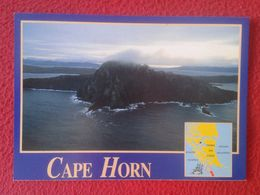 POSTAL POST CARD CHILE CHILI CAPE HORN CABO DE HORNOS XII REGIÓN OCEANOS PACÍFICO Y ATLÁNTICO OCEANS PATAGONIA PATAGONIE - Chili