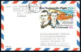 A7749 - Luftpost Detroit Nach München Ganzsache - Interi Postali