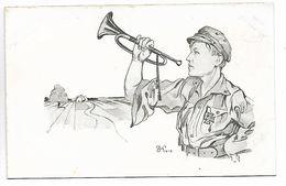 WARSOVIE WARSZAWIE Pologne Guerre 14 18 Edit S.K.W. Wierzbicki Trompettiste Clairon 1915    ..G - Polen