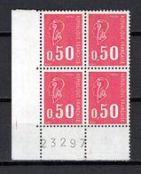 FRANCE  N° 1664c  BLOC DE QUATRE   NEUF SANS CHARNIERE  COTE 2.00€   MARIANNE DE BEQUET TROIS BANDES DE PHOSPHORES - 1971-76 Maríanne De Béquet