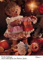"""Ansichtskarte  Mecki (Diehl-Film) """"Frohe Festtage"""" Puppenkleid Weihnachten 1975 - Mecki"""