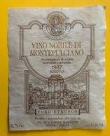 11485 - Vino Nobile Di Montepulciano 1987 Foro Etrusco - Other