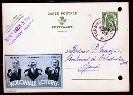 """PUBLIBEL Nr 314 - Koloniale Loterij - Stempel """"TURNHOUT"""" (geperforeerd) - Ganzsachen"""