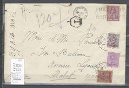 Maroc - Lettre De Londres Pour Rabat - Taxée à L'arrivée - 1937 - Marocco (1891-1956)