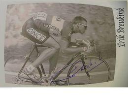 Erik BREUKINK - Signé / Dédicace Authentique / Autographe - Wielrennen