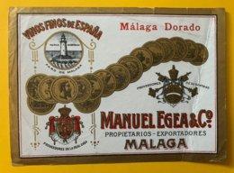 11490 -  Malaga Dorado Manuel Egea - Etiquettes