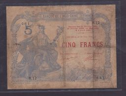 INDOCHINE 5 FRANCS NOUMEA 1916   OCCASION TRES RARE - Indochine