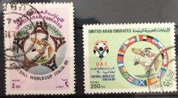 United Arab Emirates UAE 1990 Used Football, Soccer, World Cup - Italy - Emirats Arabes Unis