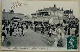 59 Malo Les Bains La Plage Et Le Café Bellevue - Malo Les Bains
