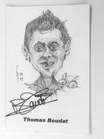 Thomas BOUDAT - Signé / Dédicace Authentique / Autographe - Cyclisme