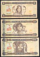 2015 Eritrea Banknotes (C)  Complete Set Of 6 CIRCULATED @ FACE VALUE - Eritrea