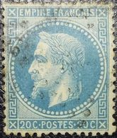 """N°29B. Variété (Voir Tâches Blanches """"T De Postes""""+++). Oblitéré étoile De Paris N°?? - 1863-1870 Napoléon III Con Laureles"""