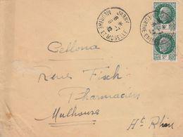 France Lettre Censurée Jarny Pour L'Alsace 1942 - Storia Postale