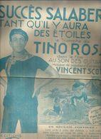 TINO ROSSI    - TANT QU'IL Y AURA DES ETOILES - éditions  SALABERT   ( PARTITION ) - Musique & Instruments