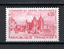 FRANCE  N° 1718    NEUF SANS CHARNIERE  COTE 0.50€    SAINT BRIEUC - Nuevos