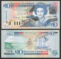 CARAIBI ORIENTALE (EASTERN CARIBBEAN) : 10 Dollars - P43m - MONTSERRAT - Queen Elisabeth II - 2003 - UNC - Ostkaribik