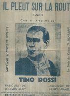 TINO ROSSI    - TANT QU'IL Y AURA DES ETOILES - éditions  BENJAMIN   ( PARTITION ) - Musique & Instruments