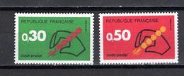 FRANCE  N° 1719 + 1720   NEUFS SANS CHARNIERE  COTE  0.70€    CODE POSTAL - Nuevos
