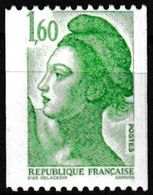 T.-P. Gommé Neuf** Roulettes - Type Liberté De Delacroix - N° Rouge Au Verso : 260 - N° 2222a (Yvert) - France 1982 - Rollo De Sellos