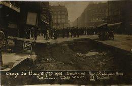Paris (75) Carte Photo - RPPC // ORAGE Eboulement Rue St. Lazare 1909 /not Used 19?? - Rampen