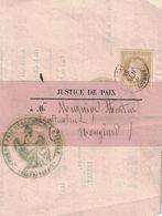 HAUTE SAVOIE - ANNECY - EMPIRE N°28 - SEUL SUR BANDE DE JUSTICE - LE 2 JUIN 1868. - 1701-1800: Precursores XVIII
