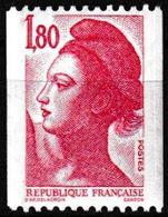 T.-P. Gommé Neuf** Roulettes - Type Liberté De Delacroix - N° Rouge Au Verso : 050 - N° 2223a (Yvert) - France 1982 - Rollo De Sellos