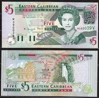 CARAIBI ORIENTALE (EASTERN CARIBBEAN) : 5 Dollars - P42v - S.T.VINCENT - Queen Elisabeth II - 2003 - UNC - Oostelijke Caraïben