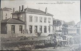 69 CPA COURS 1916 GARE DES VOYAGEURS VUE INTERIEURE - Cours-la-Ville