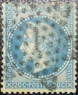 N°29B. Variété (Voir Tâches Bleu Au Dessus Du 1e P De Postes+++). Oblitéré étoile De Paris N°7 - 1863-1870 Napoléon III Con Laureles