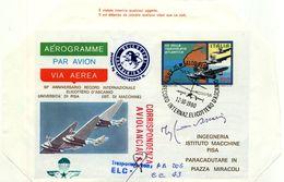 ITALIA 1980 Aerogramma 50° RECORD INTERNAZIONALE ELICOTTERO D'ASCANIO.CORRISPONDENZA AVIOLANCIATA. - Helikopters