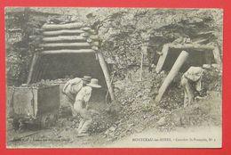 71 Montceau Les Mines 1917 Joli Plan Animée Carrière St François N°1 éditeur Magasins Réunis Dos Scanné - Montceau Les Mines